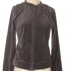 [a52-2] Express | brown velour hoodie